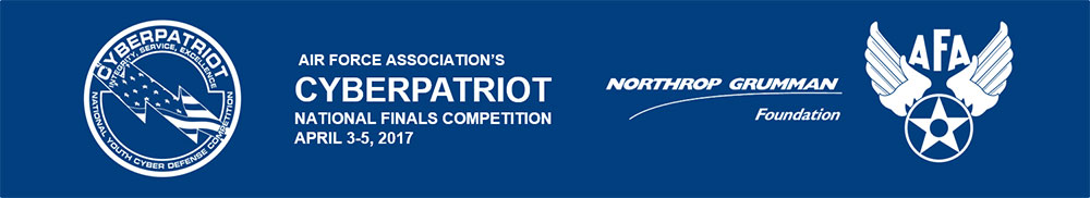 Air Force Association's CyberPatriot National Finals Competition 2017